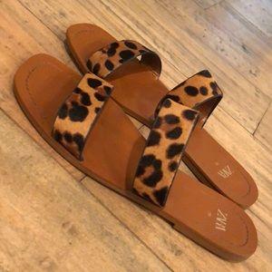 Zara Leopard Print sandals size 8 / 39